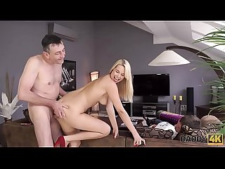 Daddy4k busty chick fucked by Old man next to her sleeping boyfriend