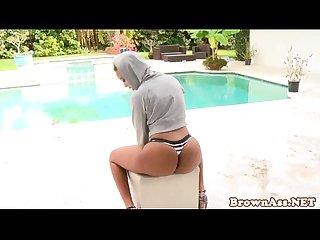 Ebony booty babe bria marie facialized