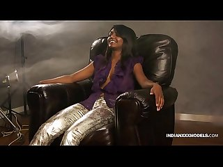 Juicy pussy indian babe gauri Xxx modelling in lounge on sofa