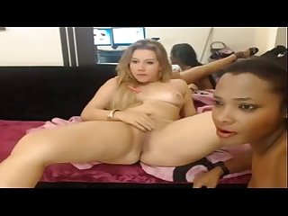 Sexy Interracial lesbians eat each other out on cam - Lady-cams.com