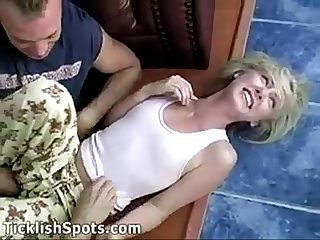 Girl in pijama getting molested
