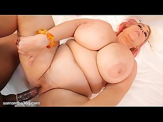 Slutty bbw milf swallows big black cock