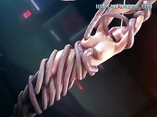 Very hot tentacle fuck uncensored at www hentaixdream com