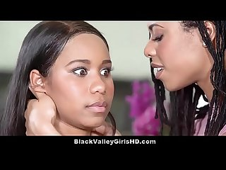 Bratty Ebony Teen Lesbian Lovers Jenna Foxx & Kira Noir Get It On