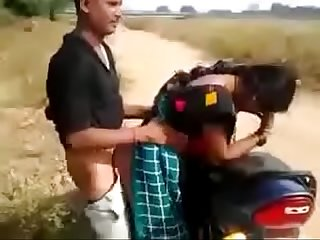 Desi Aunty fucked outdoor with customer