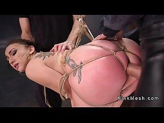 Big ass slave anal gangbang fucked