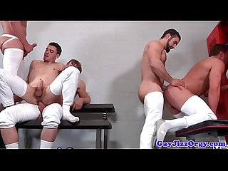 Cocksucking assfucking orgy with gay amateurs