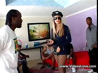 Young blond officer and black dicks