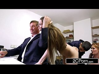 Sneaky skinny bastard fucks boss s wife and daughter tarra white leyla morgan