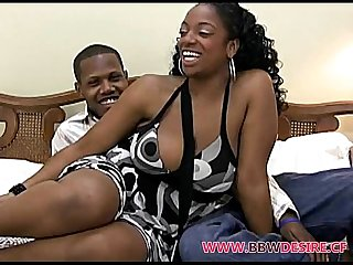 Hot black bbw gettin freaky on film