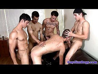 Amateur gay jock gets both his holes filled