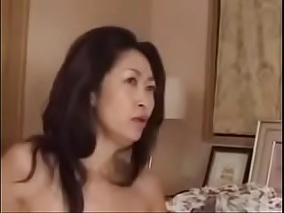 Japanese milf with younger guy
