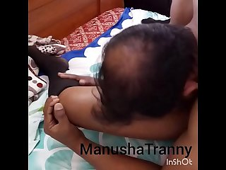Naughty and Horny Desi Indian Shemale Pornstar Manusha in bra and panty