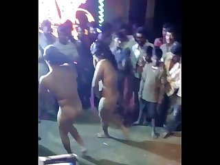 Indian females paid and nude dance show ganu