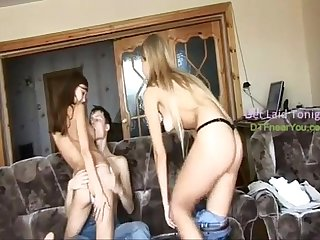 Russian Threesome, Blonde & Brunette