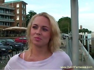 Chubby blonde dutch milf fucked hard