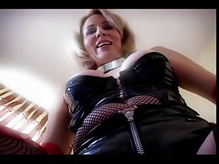 Latex granny all holes fucked