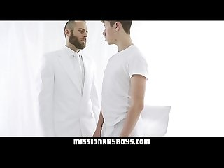 MissionaryBoyz - Young Missionary Boy Gives A Priest A Cum Facial