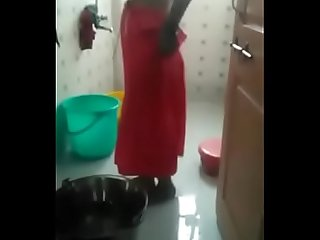Nude Indian bhabi cloth washing in toilet- Desimasala.co