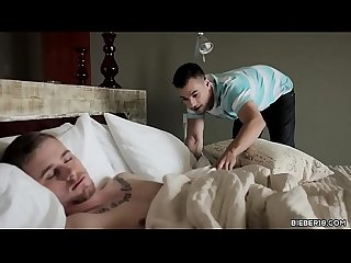 Twink guy wakes up his boyfriend