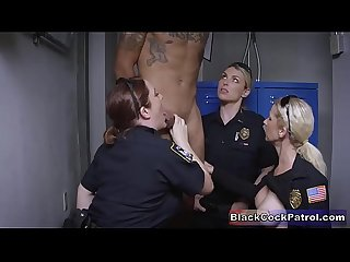 Black Guy Busted For No Reason & Fucked By White Milf Cops