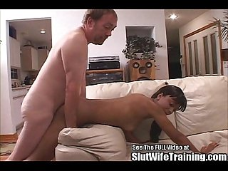 Athletic Lesbian Wife Cock Training To Fuck With Strap On